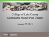 Sustainable Master Plan Update PowerPoint presentation_Jan272015