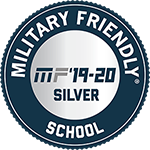 MF'19-20 Silver Military Friendly School [logo]