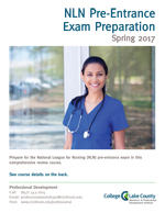 NLN Exam Preparation Course brochure cover